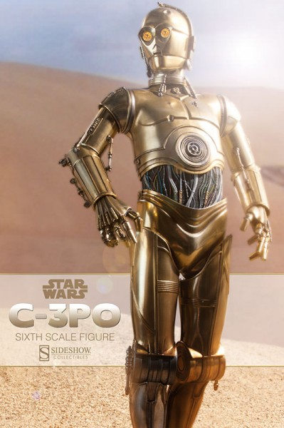 This is the droid you're looking for! Sideshow C-3PO Sixth Scale Figure