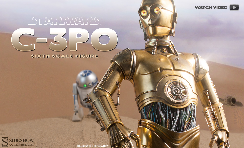 C3PO Sixth Scale Figure Preview