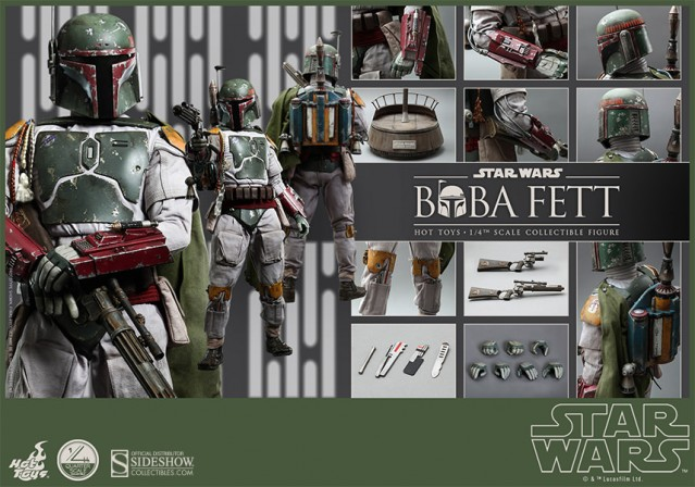 Hot Toys debuts first Star Wars Quarter Scale Figure – Boba Fett!
