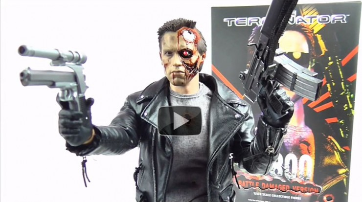 Hot Toys T-800 Terminator Figure video review via Following the Nerd