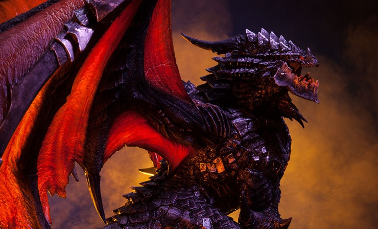 Sideshow presents Deathwing the Destroyer Statue from Blizzard's World of Warcraft