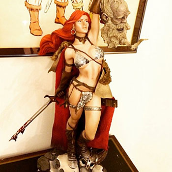 Luke Lieberman proclaims Sideshow's Red Sonja Victorious!