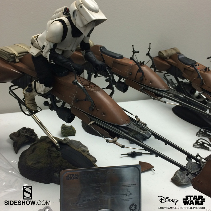 Backstage Pass Sixth Scale Speeder Bike And Scout Trooper