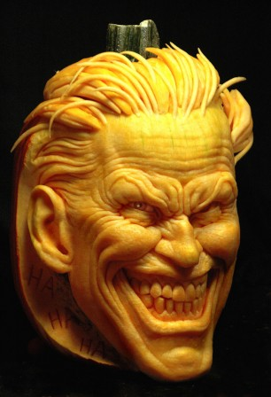 Andy Bergholtz carves up the Joker and Two Face for DC Comics