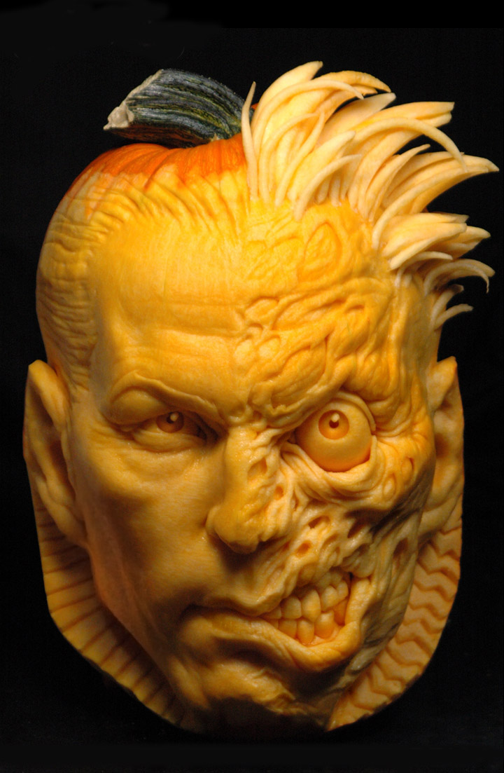 Andy bergholtz carves up the joker and two face for dc