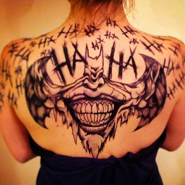 If you thought the joker 39 s tattoos were insane check out for The joker tattoo