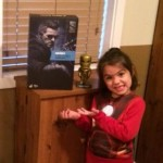 Travis Q's daughter scored a Tony Stark Mechanic in a #Starkitude Twitter contest!