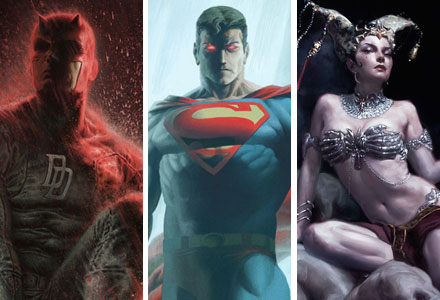 New Superman, Daredevil, and Court of the Dead Premium Art Prints