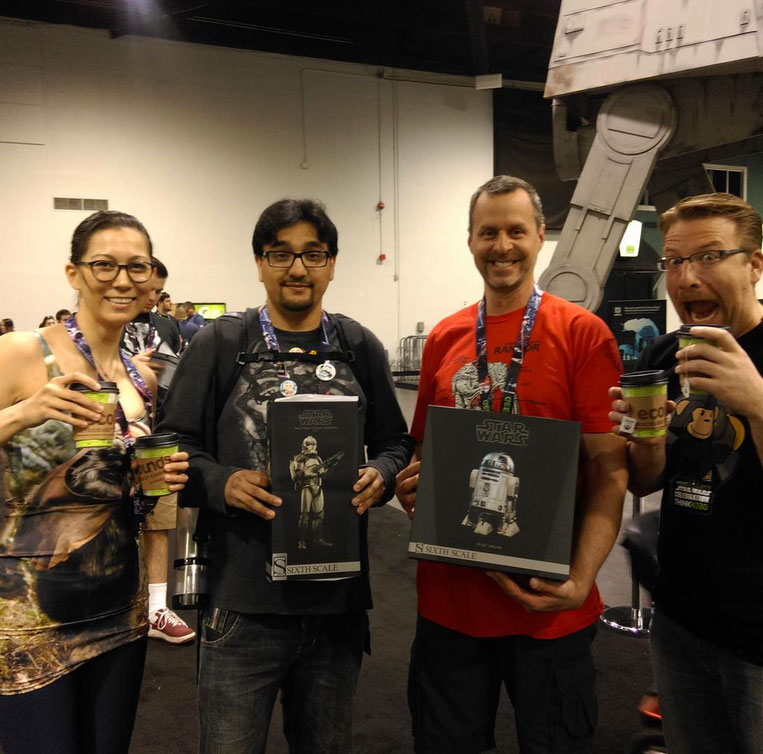 Winners at Star Wars Celebration 2015!
