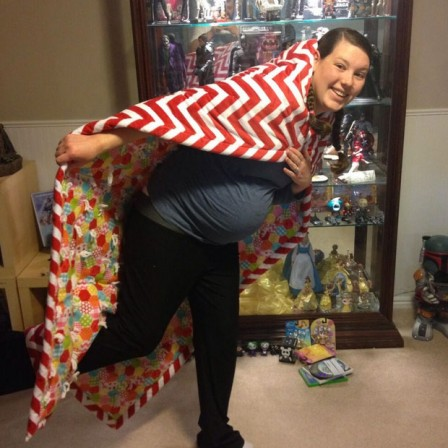 Paige won a Sideshow contest two days before her baby Payson was born...