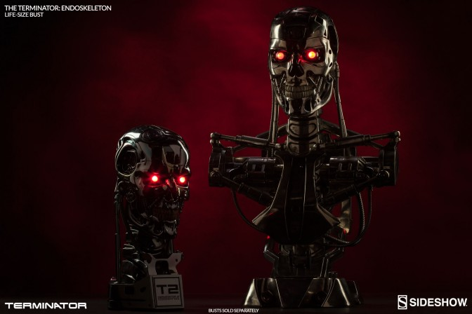 The Machines are rising! Check out this Terminator Endoskeleton Life-Size Bust Sneak Peek