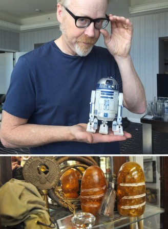 Mythbusters' Adam Savage finds the droid he's looking for, but loses rare Sankara stone