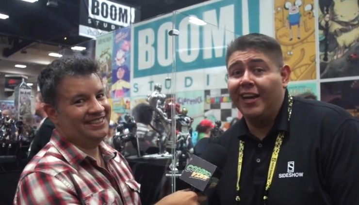 Comic Vine visits every podium at the Sideshow San Diego Comic-Con booth