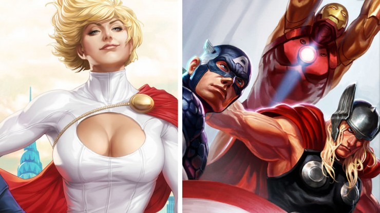 New Avengers and Power Girl Premium Art Prints