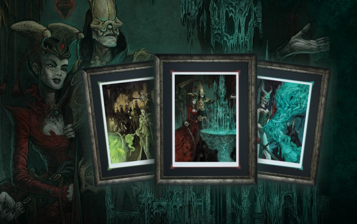 New Court of the Dead art print series featuring Death and the leaders of the Underworld