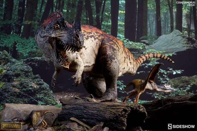 Sideshow's Dinosauria presents the Ceratosaurus