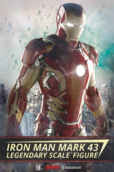 Bring home the Iron Man Mark 43 Legendary Scale Figure for your Hall of Armor