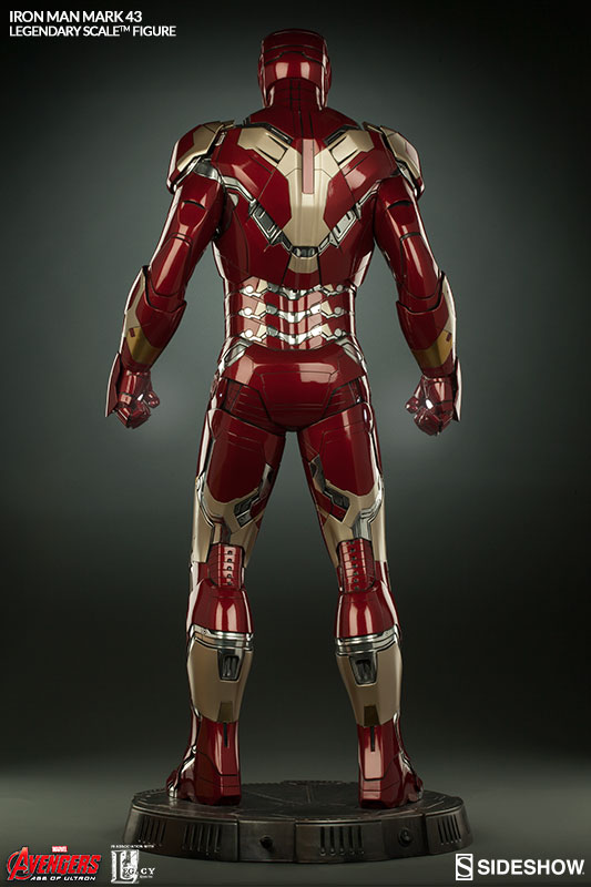 bring home the iron man mark 43 legendary scale figure for