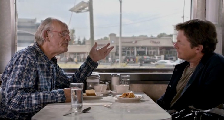 Back to the Future costars Christopher Lloyd and Michael J. Fox reunite in Toyota campaign
