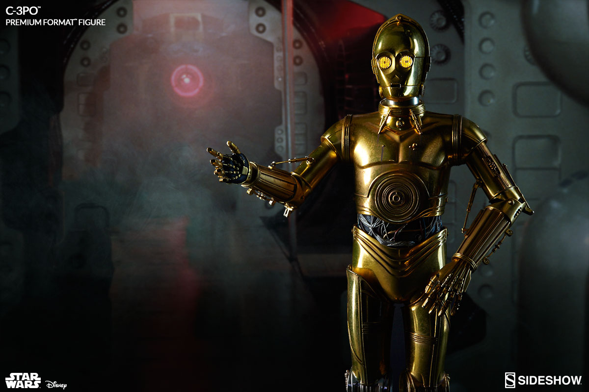 c 3po human cyborg relations and his counterpart r2 d2 sideshow collectibles. Black Bedroom Furniture Sets. Home Design Ideas