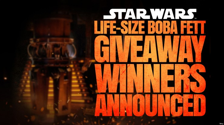 Life-Size Boba Fett Giveaway Winners Announced Live!