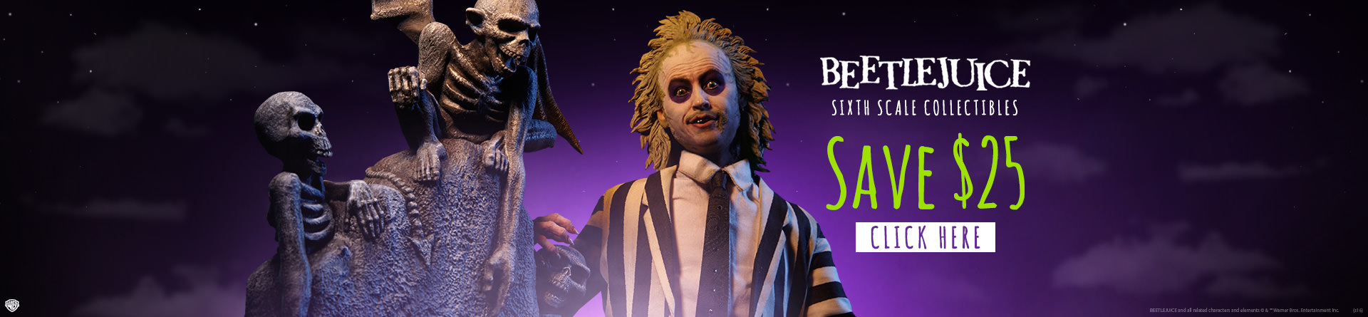 Beetlejuice & Tombstone Sixth Scale