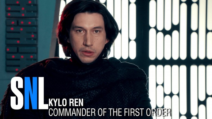 Adam Driver as Kylo Ren in hilarious 'Undercover Boss' spoof on SNL
