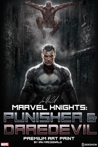 Marvel Knights Punisher & Daredevil Premium Art Print by Ian MacDonald Coming Soon