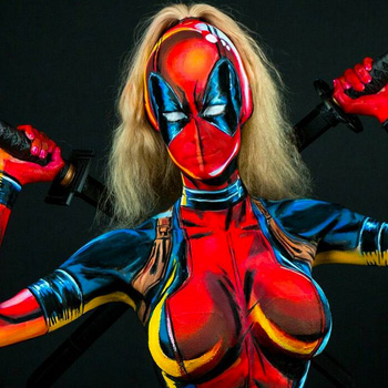 Cosplayer Kay Pike is taking bodypaint to a whole new level