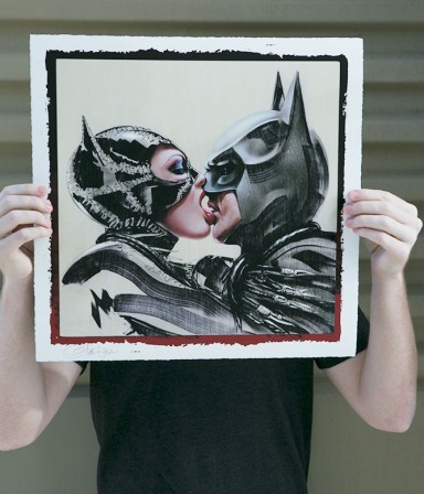 New Limited Edition Art Print – Catwoman & Batman: Tongue Lashing by Olivia