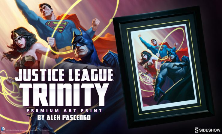 Justice League Trinity Premium Art Print Announcement