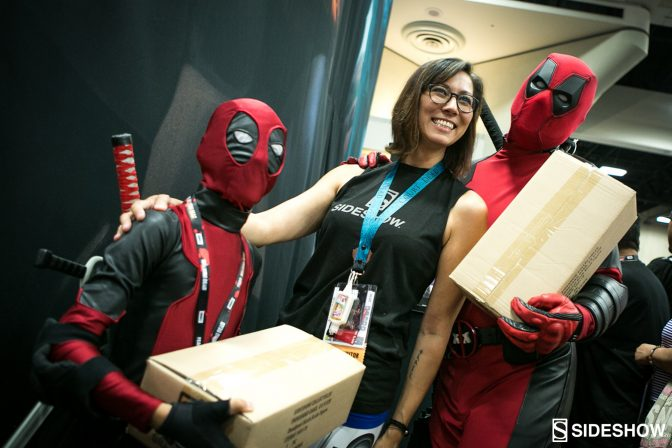 Deadpool Madness was at the Sideshow Booth on Thursday!