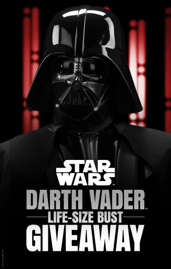 Darth Vader Life-Size Bust Giveaway