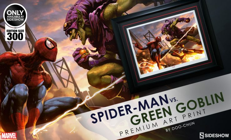 Spider-Man Vs Green Goblin Premium Art Print