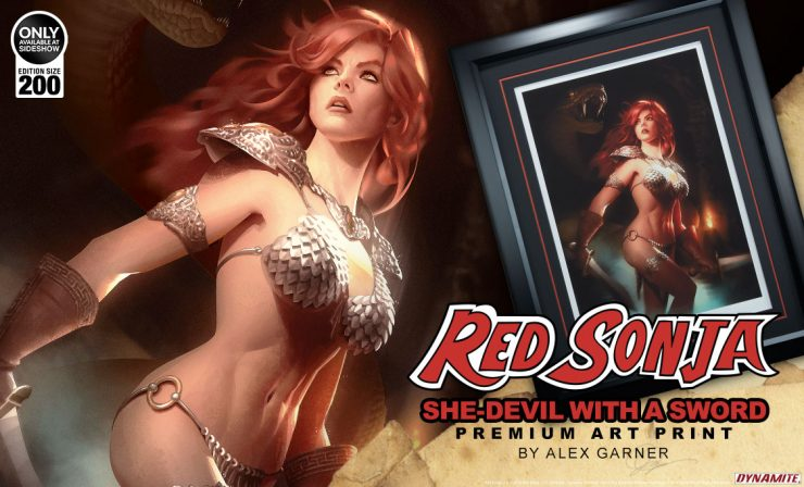 Red Sonja: She Devil with a Sword Premium Art Print Announcement