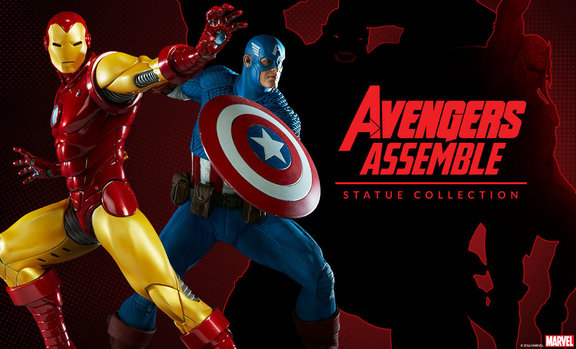 avengers assemble statue collection sideshow collectibles