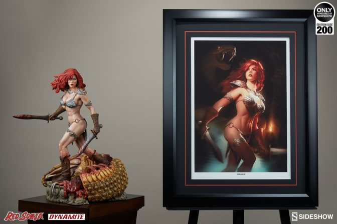 Red Sonja: She-Devil with a Sword Premium Art Print by Alex Garner