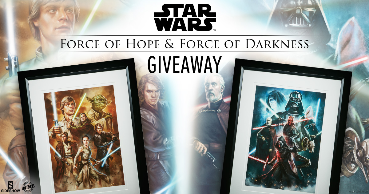 Force of Darkness and Hope Art Print Giveaways