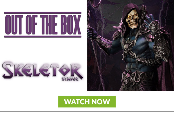 Skeletor Statue Out of the Box
