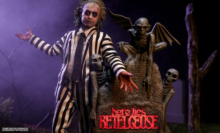 New Production Photos – Beetlejuice Sixth Scale Figure & Tombstone Sixth Scale Environment