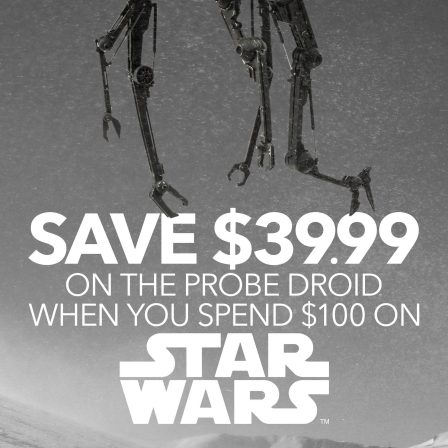 Score $39.99 OFF of the Imperial Probe Droid