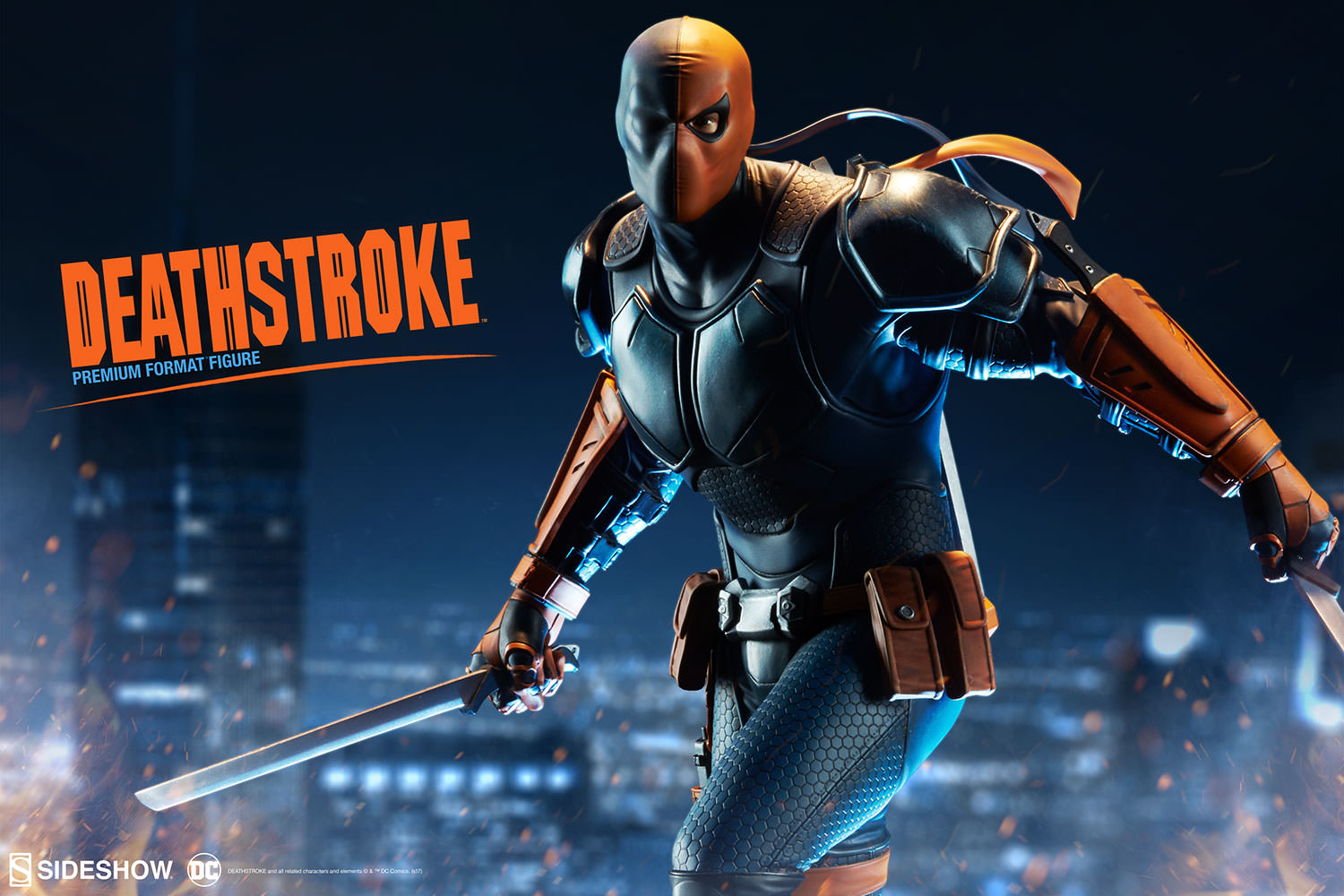 deathstroke premium format figure sideshow collectibles