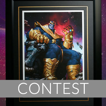 Thanos on Throne Premium Art Print Giveaway