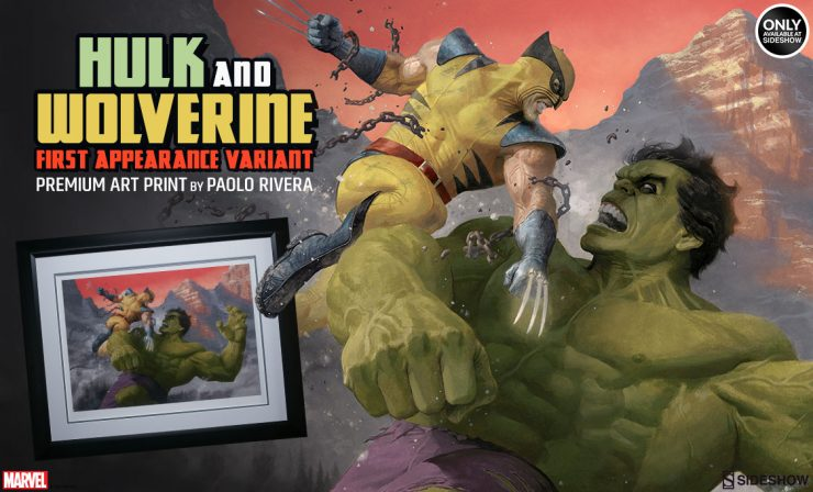 Hulk and Wolverine: First Appearance Variant Premium Art Print