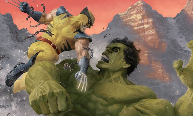 Hulk and Wolverine First Appearance Variant Premium Art Print