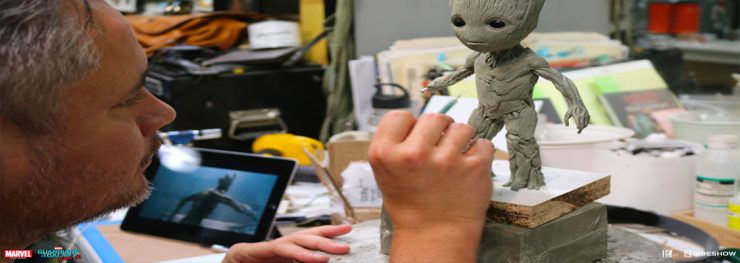 FIRST LOOK at Sideshow and Legacy Effects new Groot Maquette!