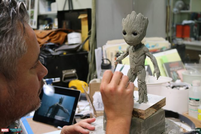 osw.zone FIRST LOOK at Sideshow and Legacy Effects new Groot Maquette!