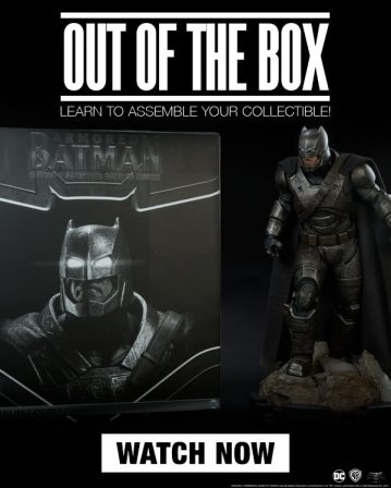Out of the Box – Armored Batman Premium Format Figure
