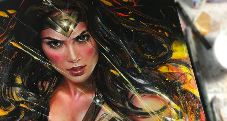 A Real Life Wonder Woman Honors Diana of Themyscira in New Art Print