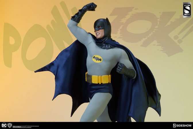 POW!  BIFF!  New Production Photos of Adam West Batman Premium Format Figure Leap into Action!